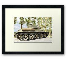 tank T34 Framed Print