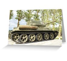 tank T34 Greeting Card