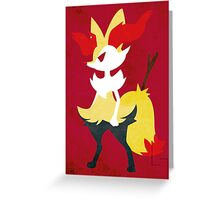 Braixen Greeting Card