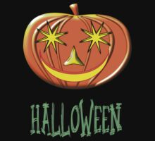 A Pumpkin Halloween T-shirt by Dennis Melling