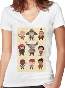 Dragon Age Christmas Women's Fitted V-Neck T-Shirt