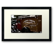 Stone Creek Carriages  Framed Print