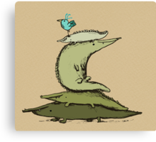 Croc Totem Canvas Print