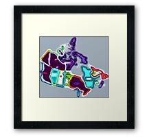 Map of Canada pop art Framed Print