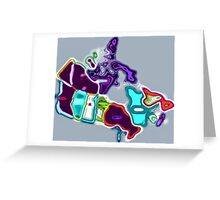 Map of Canada pop art Greeting Card