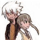 Soul and Maka by lulujweston