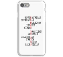 ONE HUMAN FAMILY iPhone Case/Skin