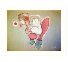 Bubbles thinking Art Print