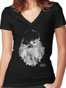 Death Is Coming Women's Fitted V-Neck T-Shirt