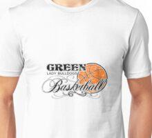 Green Girls Basketball Design 1 / on white Unisex T-Shirt