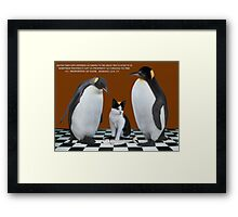 """THIS IS NOT JUNIOR - WHO IS THIS IMPOSTER?"" (WITH SCRIPTURE) Always show the you in you that makes you the you that you are.  Framed Print"