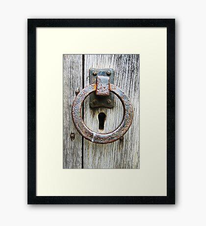 Knock, knock. Framed Print