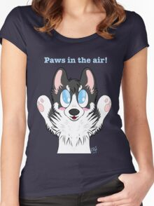 Paws in the air! Women's Fitted Scoop T-Shirt