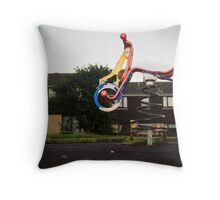 A colourful ride Throw Pillow