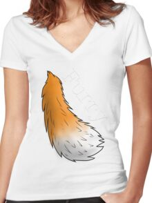 Furry! Women's Fitted V-Neck T-Shirt
