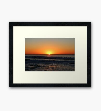 Newcastle Sunrise Framed Print