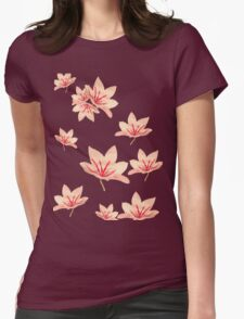 Vintage Chinoiserie floral lily print T T-Shirt