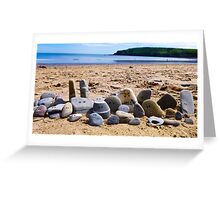 Beach pebble people Greeting Card