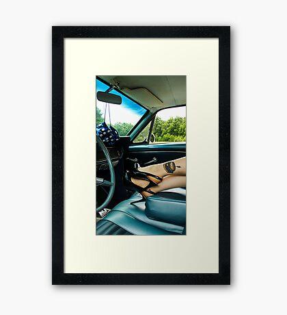 The Leggy Blond Framed Print