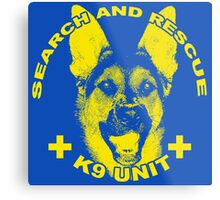 Search and Rescue K9 Unit Metal Print