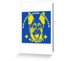 Search and Rescue K9 Unit Greeting Card