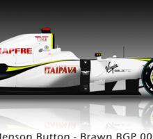 Jenson Button - Brawn BGP001 - Brazil Sticker
