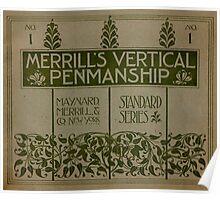 Merrill's Vertical Penmanship Primer, 1895 Poster