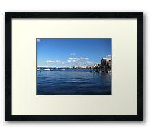 Boston skiline Framed Print