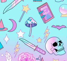 Girly Pastel Witch Goth Pattern Sticker