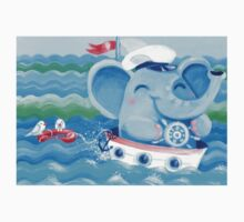 Sailor - Rondy the Elephant on a boat One Piece - Short Sleeve