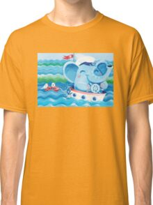 Sailor - Rondy the Elephant on a boat Classic T-Shirt