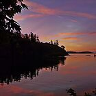 Sunset on Quadra Island by Doria Fochi