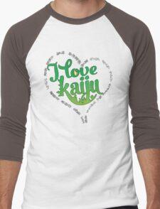 I Love Kaiju Men's Baseball ¾ T-Shirt