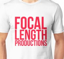 Focal Length Logo Red Unisex T-Shirt