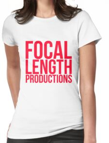 Focal Length Logo Red Womens Fitted T-Shirt