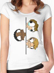 SG head stack Zip Up hoodie Women's Fitted Scoop T-Shirt