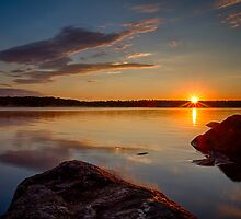 Brilliant Sunrise. Baxter Lake, NH by jsinon