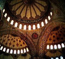 Blue Mosque Ceiling by Eva Kato