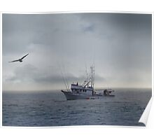 Fishing Boat on the Pacific Poster