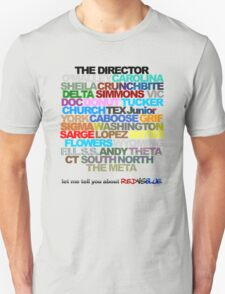 Red Vs. Blue Typography T-Shirt