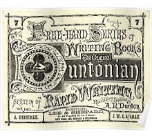 The Duntonian System of Rapid Writing Primer Poster