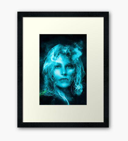 Breaking Bad blue Framed Print