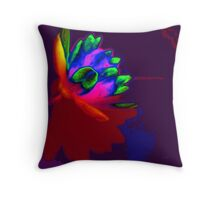 Water lily abstract pop art Throw Pillow