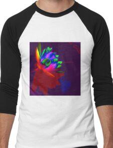 Water lily abstract pop art Men's Baseball ¾ T-Shirt