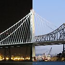 Bay Bridge Eastern Span - Day and Night by Urso Chappell
