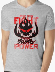 Row Row FIGHT the POWER Mens V-Neck T-Shirt