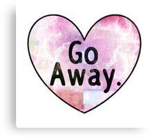 Go Away Cosmic Heart Canvas Print