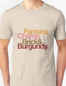 The Channel 4 news team, helvetica style. T-Shirt