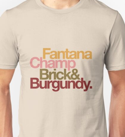 The Channel 4 news team, helvetica style. Unisex T-Shirt