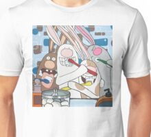 Awesome Bunnies Brush Their Teeth Unisex T-Shirt